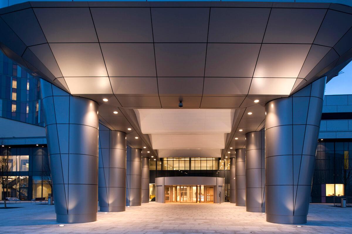 Exterior of Queen Elizabeth University Hospital Glasgow