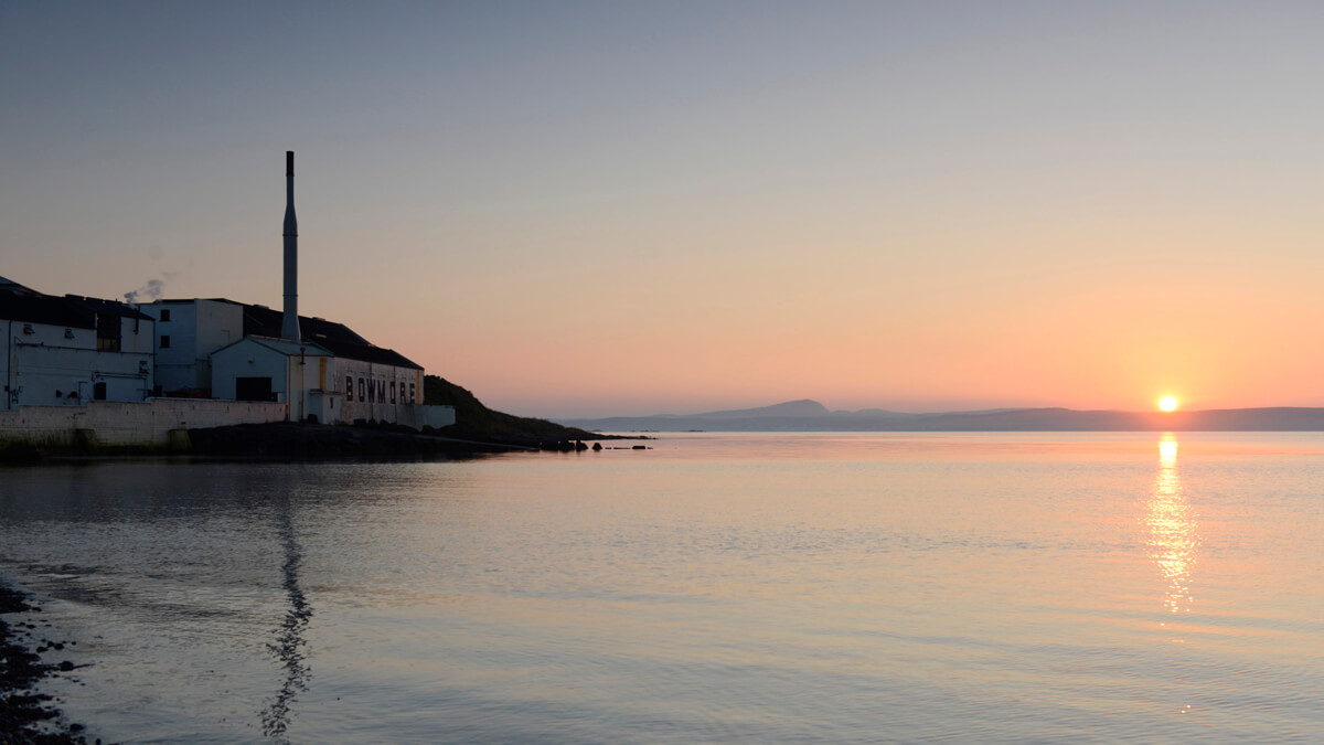 Location Photography of Bowmore Distillery Islay