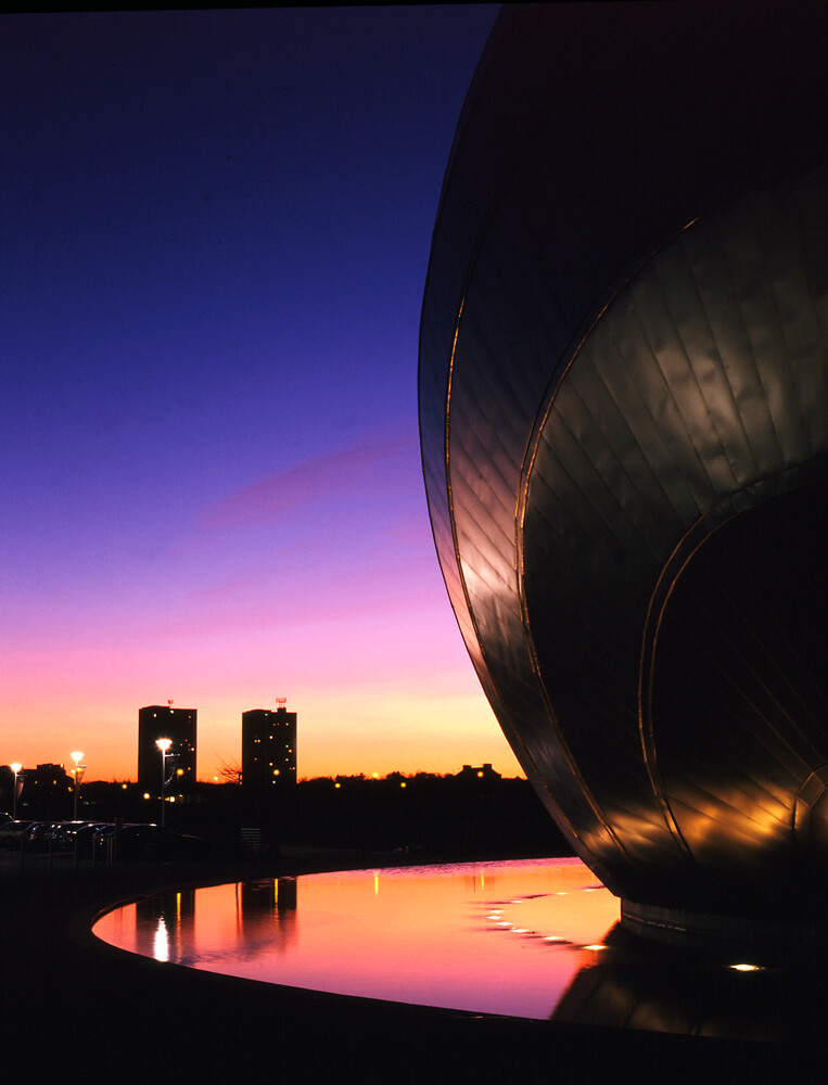 Architectural Photograph of Glasgow Science Centre
