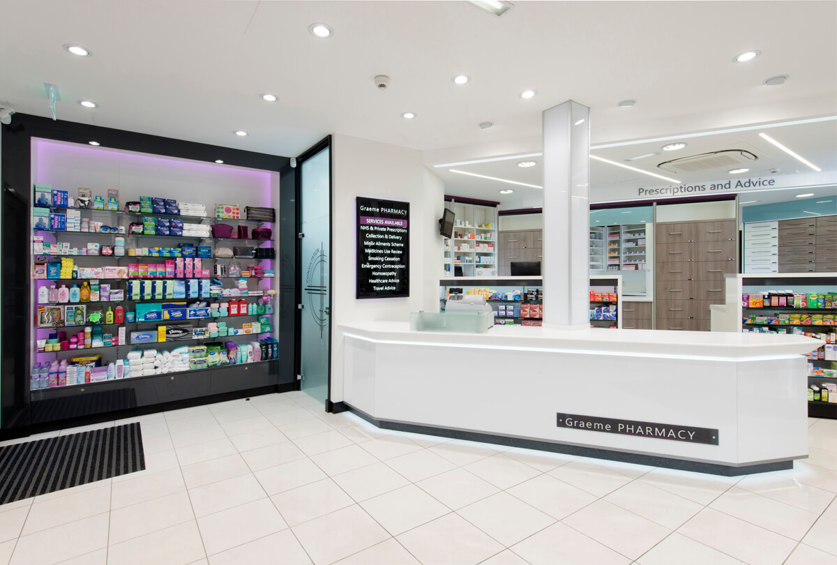 Commercial Interior of Pharmacy